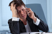 Frustrated phone call — Stock Photo
