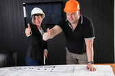 Architects Teamwork — Stock Photo