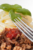 Details of baked minced meat — Stock Photo