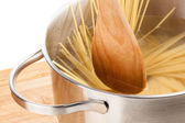 Pasta cooking — Stock Photo