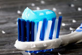 Glowing toothpaste — Stock Photo