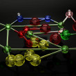 Glass Melecular structure — Stock Photo #42573759