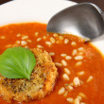 Tomato cream soup — Stock Photo #12041353