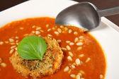 Tomato cream soup — Stock Photo