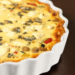 Vegetable quiche - Stock Photo