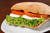 Mozzarella sandwich — Stock Photo