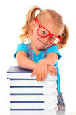 Clever young girl — Stock Photo