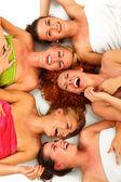 Girls in spa — Stock Photo