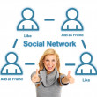 Royalty-Free Stock Photo: Social network