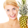 Pineapple girl — Stock Photo