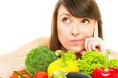 Vegetable girl — Stock Photo