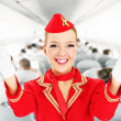 Stewardess — Foto Stock