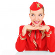 Постер, плакат: Happy stewardess