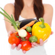 Stock Photo: Vegetable girl