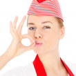 Young chef showing ok sign — Stock Photo #41486591