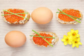 Easter sandwiches — Stock Photo