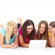 Group of friends searching the internet — Stock Photo #43226251