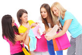 Shopping with friends — Foto Stock