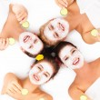 Group of womans in spa — Stock Photo #43751007