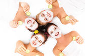 Group of womans in spa — Stock Photo