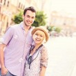Happy tourists in the Old Town — Stock Photo #46927533