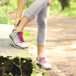Jogger with hurt ankle — Stock Photo #48539319
