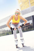 Happy roller blader — Stock Photo