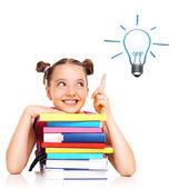 Schoolgirl having idea — ストック写真