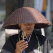Buddhist monk at Ginza, Tokyo, Japan - Stock Photo