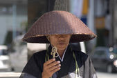 Buddhist monk at Ginza, Tokyo, Japan — Stock Photo