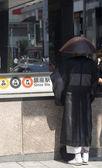 在日本东京银座的和尚 — 图库照片