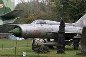 Caccia sovietico mig-21, warszawa, polonia — Foto Stock
