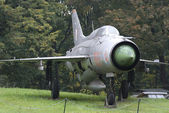 MIG-21 Soviet fighter, Warszawa, Poland — Stock Photo