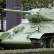 T-34 Soviet medium size tank, Warszawa, Poland - Stock Photo