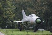 Radziecki myśliwiec mig-21, warszawa, polska — Zdjęcie stockowe
