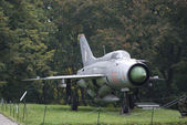 MIG-21 Soviet fighter, Warszawa, Poland — Stock Photo
