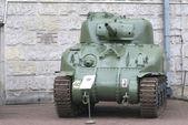 """Sherman M4A1 """"Grizzly"""" tank, Warszawa, Poland — Stock Photo"""