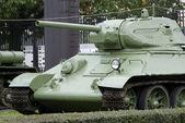 Radziecki t-34 średniej wielkości zbiornika, warszawa, polska — Zdjęcie stockowe