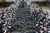 Bicycle parking, Eindhoven, The Netherlands — Stock Photo
