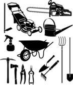 Garden equipment 3 — Stock Vector