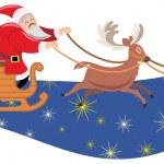 Santa sleigh — Stock Vector #18796969