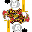 Stock Vector: King of clubs no card