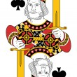 King of clubs no card — Stock Vector