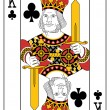 Stock Vector: King of clubs