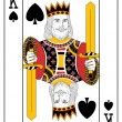 Stock Vector: King of spades