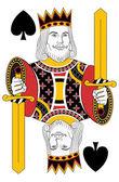 Kings of Spades no card — Stock Vector