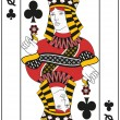 Queen of Clubs — Stock Vector