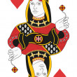 Queen of Hearts no card — Stock Vector