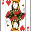 Stock Vector: Queen of Hearts