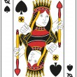 Stock Vector: Queen of Spades